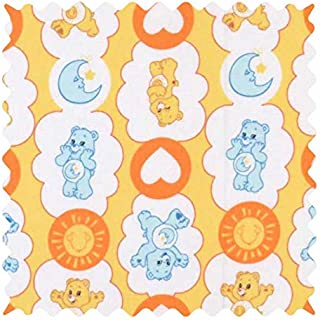 product image for SheetWorld 100% Cotton Percale Fabric by The Yard, Care Bears Yellow, 36 x 44