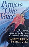 img - for Prayers for One Voice: 180 Prayers Based on the Revised Common Lectionary book / textbook / text book