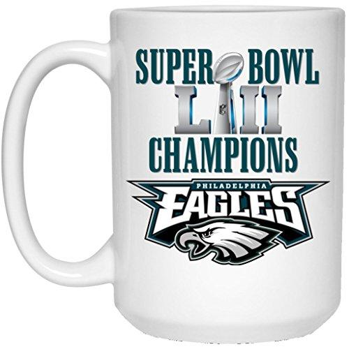 (Philadelphia Eagles Coffee Mug | Eagles Mug | Super Bowl 52 Champions Philadelphia Eagles | 15 oz White Ceramic Mug Cup | NFL NFC National Football League | Perfect Unique)