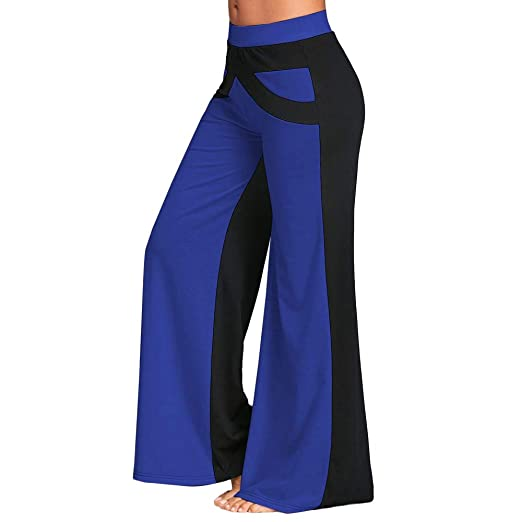 3a18aee079597 AOJIAN Yoga Pants Buttery Soft Patchwork Wide Leg Trousers Jogger Capri  Workout Running Sports Leggings for Women at Amazon Women's Clothing store: