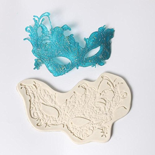 Masquerade Party Mask Silicone Mold Fondant Mould Cake Decorating Tools Chocolate Molds Sugarcraft Kitchen -