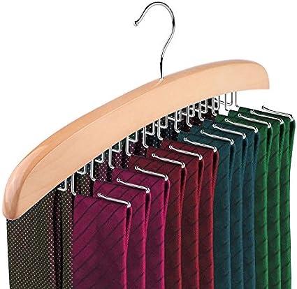 Schal G/ürtel Hiqusc Krawattenhalter aus Holz mit 20 Stangen Zubeh/ör Organizer 1 Stpck