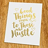 Good things come to those who hustle Gold Print (Unframed), Typography Print, Gold Foil Print, Gold Foil Art, 8x10