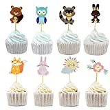 Animal Cake Cupcake Toppers Picks for Wedding Birthday Baby Shower Party Decorations Supplies, Pack of 48 by Bilipala