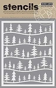 Hero Arts SA078 Forest Scene Stencil Card Making Kit