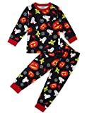 Funnycokid Boys Pajama Sets Big Kids Long Sleeve Pumpkin Lantern Sleepwear Pjs