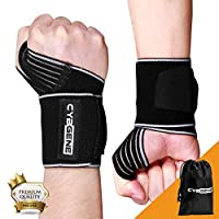 CybGene Wrist Wraps, Wrist Support Braces, for Weight Lifting, Gym Workout, Crossfit, Strength Training, Pull-up, Fitness, Powerlifting & WODs, Xfit, Avoid Injury, Unisex for Men & Women