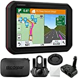 Garmin dezlCam 785 LMT-S GPS Truck Navigator with Built-in Dash Cam (010-01856-00) + Garmin BC 35 Wireless Backup Camera + Hard EVA Case with Zipper, 7-inch + GPS Navigation Dash-Mount + More