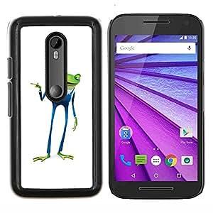 For Motorola MOTO G3 / Moto G (3nd Generation) Case , Playboy Playa de negocios de la rana- Diseño Patrón Teléfono Caso Cubierta Case Bumper Duro Protección Case Cover Funda