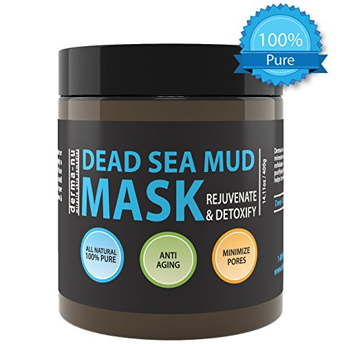 Purifying Dead Sea Mud Mask (Pure Dead Sea Mud Mask for Face - Rejuvenating & Detoxifying - Pore Cleansing Anti Aging Natural Face Mask, For Women and Men - No Fillers or Additives 400g 14.11fl oz)