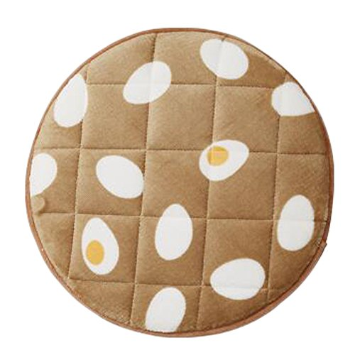 Japanese Style Soft Round Non-slip Chair Cushion Flannel Chair Seat Pad, No.5