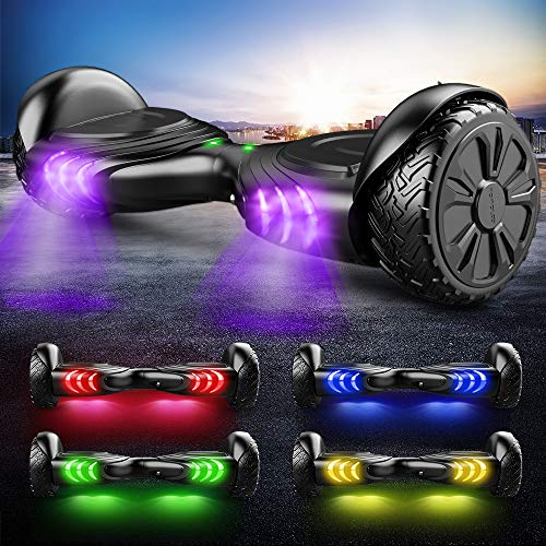 TOMOLOO Music-Rhythmed Hover Board for Kids and Adult Two-Wheel Self-Balancing Scooter- UL2272 Certificated with Music Speaker- Colorful RGB LED Light by TOMOLOO (Image #4)