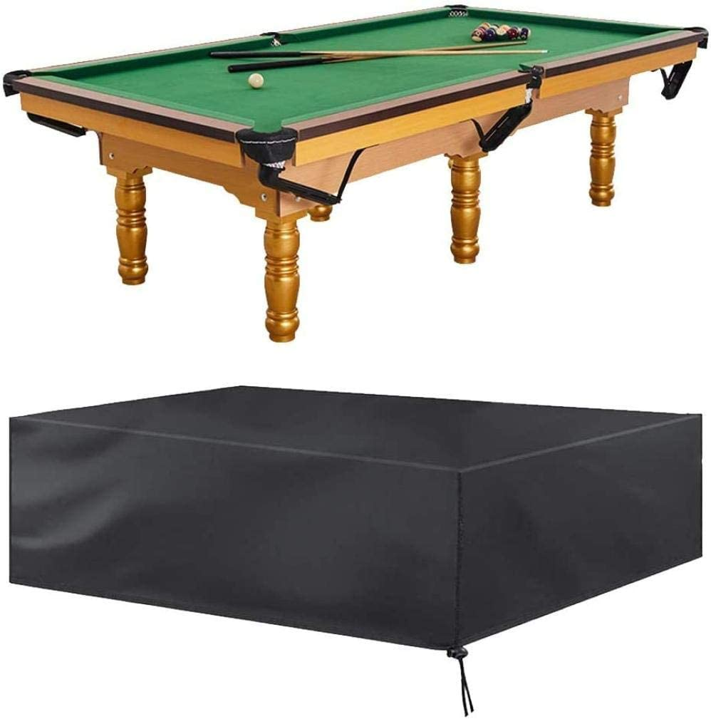 Wghz Cubierta de Paraguas, Snooker/Pool/Billiard Table Cover Muebles Antipolvo para Muebles 7ft 8ft 9ft Impermeable Pool Billiard Table Cover Oxford Fabric Rain Cover Antipolvo Negro con bols: Amazon.es: Hogar
