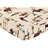 Fitted Crib Sheet for Wild West Cowboy Bedding Sets by Sweet Jojo Designs