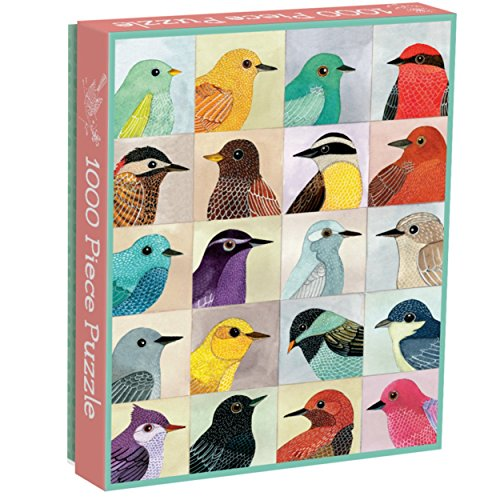 "Galison Avian Friends 1000 Piece Puzzle – Finished Puzzle Measures 20"" x 27"" and Features 20 Fine Art Bird Illustrations Bird Jigsaw Puzzles"