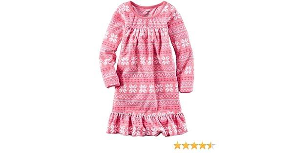 babb129b382d Amazon.com  Carter s Girls  Fleece Gowns 377g126  Clothing