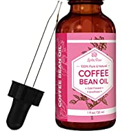 Coffee Bean Oil by Leven Rose, 100 % Natural Pure Cold Pressed Unrefined Coffee Bean Oil 1 oz
