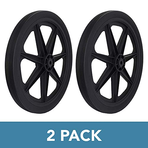 Marathon 92009-2pk Flat Free Marine Cart Replacement Tire, Black