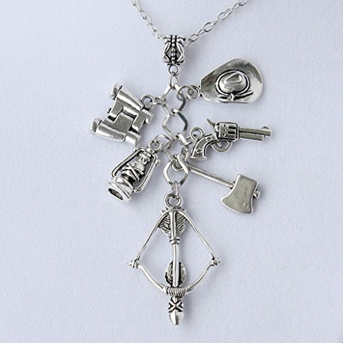 The Walking Dead Inspired Charm Necklace with 24