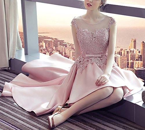 Xingmeng Une Ligne De Robes De Bal Haut Bas Dentelle Robes De Demoiselle D'honneur Vintage Pour La Lavande Femmes