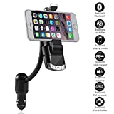 3 FM Transmitter, Phone Holder and Car Charger in 1 Wireless Bluetooth Receiver Car