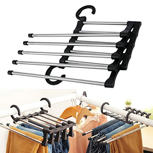 monque Trouser Towels Clothes Rack Rod Stand Rack Adjustable