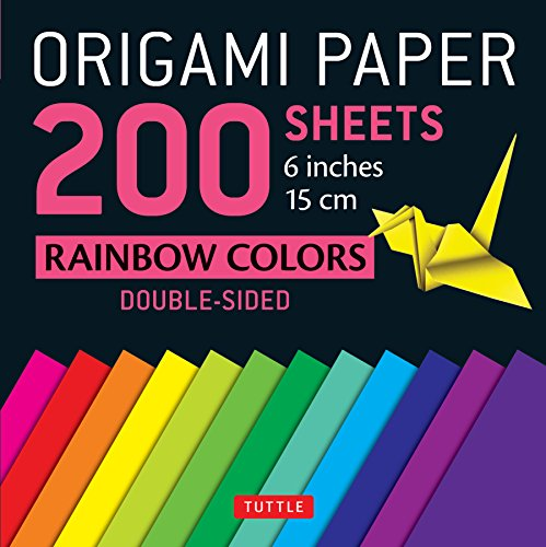 - Origami Paper 200 sheets Rainbow Colors 6