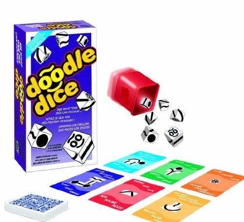 Jax Ltd. Doodle Dice Trilingual Family Board-Game by Jax