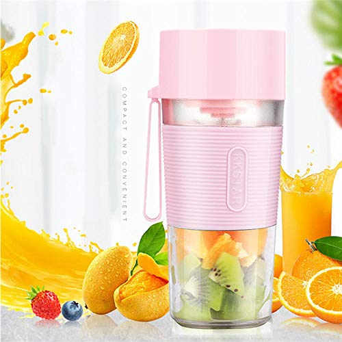 AOLVO Mini Blender,400ml Portable Travel Blender Smoothie Maker Bottle,USB Rechargeable Personal Juice Fruit Mixer Cup for Gym, Office, School and Home