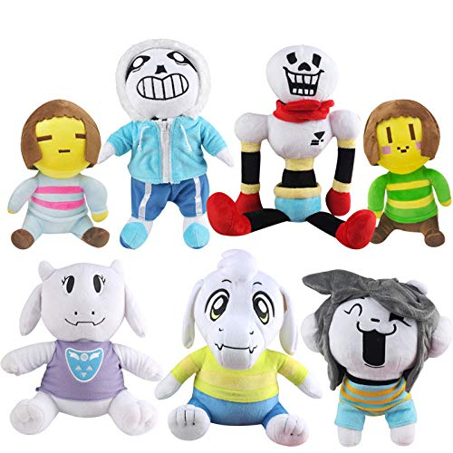 YOYOTOY Skyleshine 7Pcs/Set Undertale Plush Toys 20-30Cm Frisk Asriel Toriel Stuffed Dolls Cartoon Toys Doll S896 Boy Must Haves Girls Favourite Characters Superhero Party Favors by YOYOTOY
