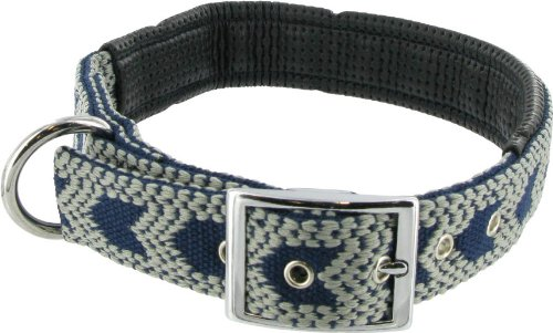 "Kakadu Pet One Way Padded Big Dog Collar, 1 1/4"" x 28"", Blue"
