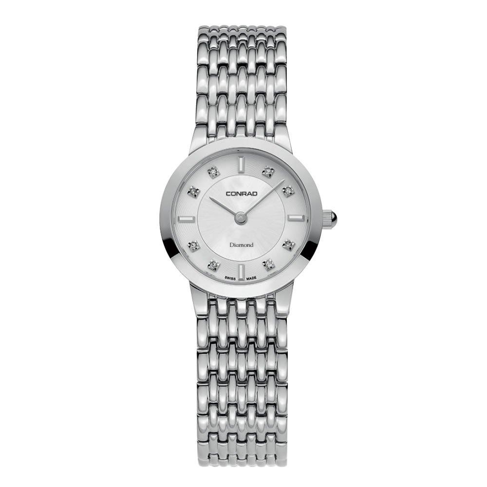 Women's Diamond Swiss Made Watch With Sapphire Glass 25MM Conrad by Conrad Watches