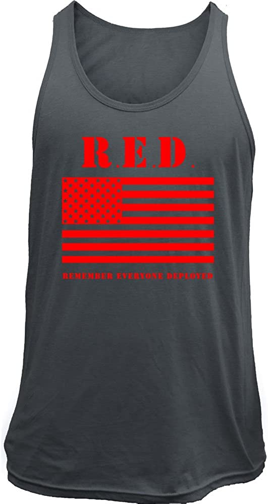 Remember Everyone Deployed RED Friday Flag Military Tank Top