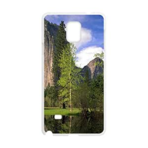 Beautiful River And Mountains White Phone Case for Samsung Galaxy Note4 wangjiang maoyi by lolosakes