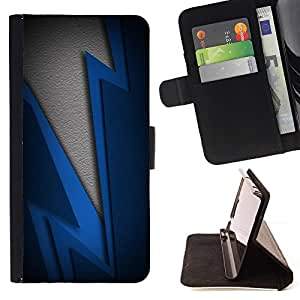BETTY - FOR LG G3 - Blue Lightning - Style PU Leather Case Wallet Flip Stand Flap Closure Cover