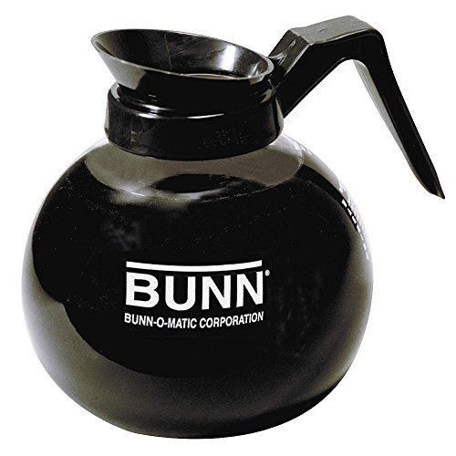 BUNN 12-Cup Glass Coffee Decanter, (12 Cup Black Replacement Decanter)