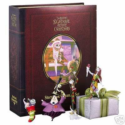Nightmare before Christmas Storybook ornament set -