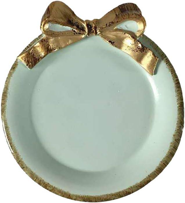 BESTONZON Platos pequeñas vintage para postre fruta aperitivos perfecto para catering bodas fiestas y eventos (azul Bowknot)