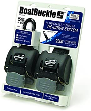 BoatBuckle G2 Retractable Transom Tie-Down 1 Pair