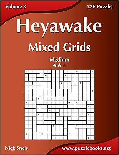 Heyawake Mixed Grids - Medium - Volume 3 - 276 Logic Puzzles