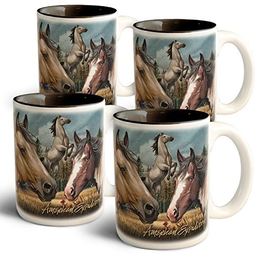 American Expedition Mustang Collage Coffee Mugs (4 Set) [並行輸入品]   B072Z7TWQB