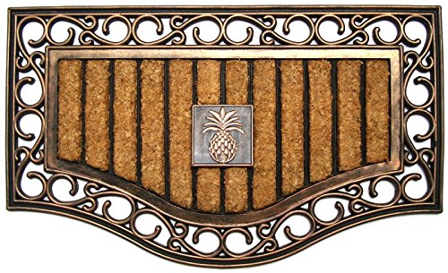 Rubber & Coir Doormat Natural Copper Finish ()