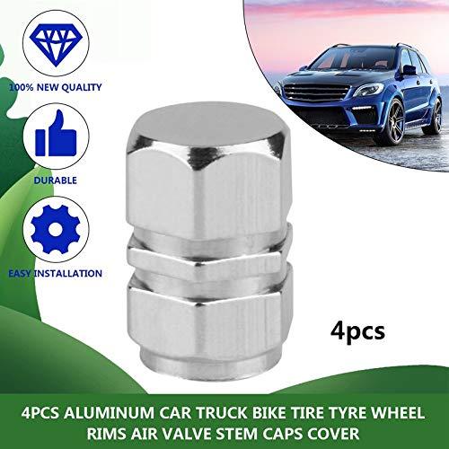 ukYukiko 4 Tappi per valvola dell/'Aria per Pneumatici di Auto Camion in Alluminio Bici