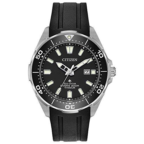 Citizen Promaster Black Dial Silicone Strap Men's Watch BN0200-05E