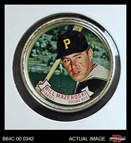 1964 Topps Coins # 27 Bill Mazeroski Pittsburgh Pirates (Baseball Card) Dean's Cards 5 - EX Pirates