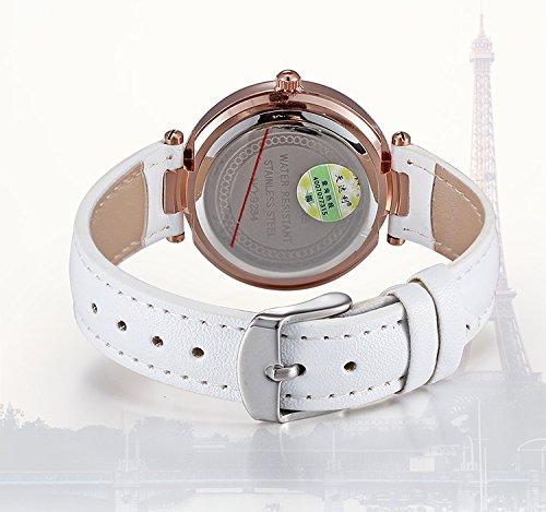 AStarsport Womens Girls Butterfly Rhinestone Scale Watches Analog Quartz Leather Watch Male Casual Wristwatch Black by AStarsport (Image #5)