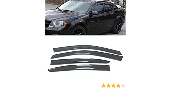 FOR AVENGER 194065 In Channel Smoke Window Vents Visors Shades Trim 2008-2014