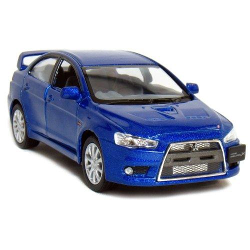 "5"" 2008 Mitsubishi Lancer Evolution X 1:36 Scale (Blue)"