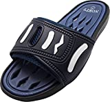 NORTY - Men's Slide Strap Shower Drainage Sandal, Navy 40343-11D(M) US