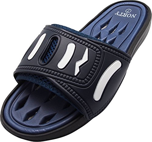 NORTY - Men's Slide Strap Shower Drainage Sandal, Navy 40343-11D(M) US by NORTY